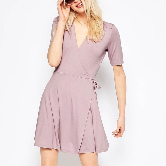 4de078e1f341 ASOS Dresses | Violet Mini Tea Dress W Wrap Front | Poshmark